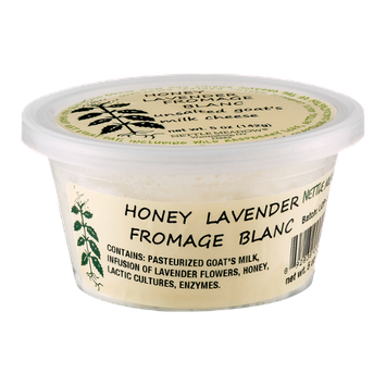 Nettle Meadow Honey Lavender Fromage Blac Unsalted Goat's Milk Cheese