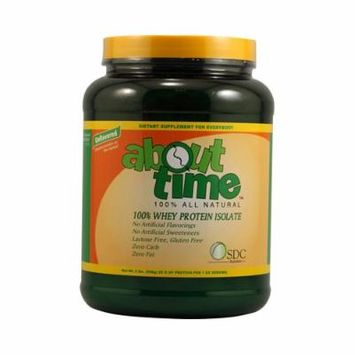 About Time, Whey Isolate Protein Unflavored, 2.0 Lb (Pack of 48)