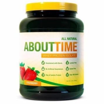 About Time 100% Whey Protein Isolate Strawberry 2 Lbs