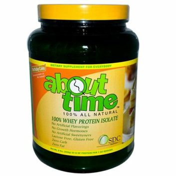 About Time Whey Protein Isolate Birthday Cake 2 lbs