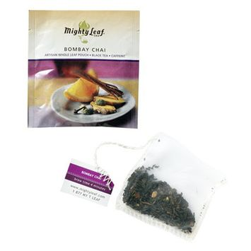 Mighty Leaf Bombay Chai Tea - Pack of 100 Foil Wrapped Tea Bags