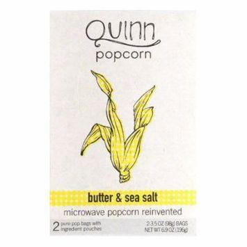 Quinn Butter & Sea Salt Microwave Popcorn, 2 ea (Pack of 6)