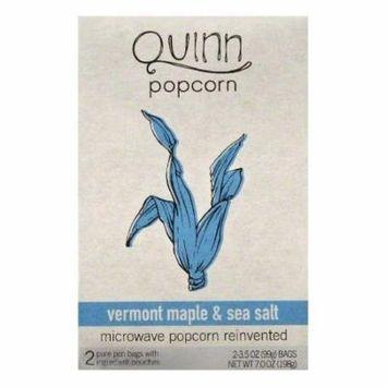Quinn Vermont Maple & Sea Salt Microwave Popcorn, 2 ea (Pack of 6)