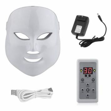 7 LED Colors Light Electric Facial Mask Therapy Anti Wrinkle Acne Removal on Clearance