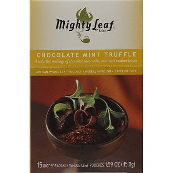 Mighty Leaf Tea Chocolate Mint Truffle Tea, 15 count, 1.59 oz, (Pack of 6)