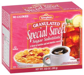 Springfield Granulated Special Sweet Sugar Substitute 100 Ct Box