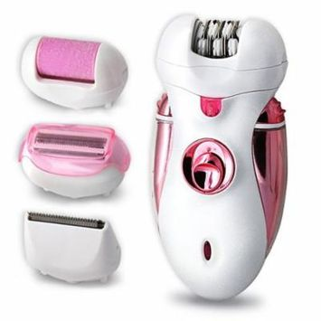 Kapmore 4 in 1 Electric Painless Hair Remover Rechargeable Cordless Hair Epilator Body Trimmer Hair Shaver Callus Remover Razor Hair Clipper for Women Ladies