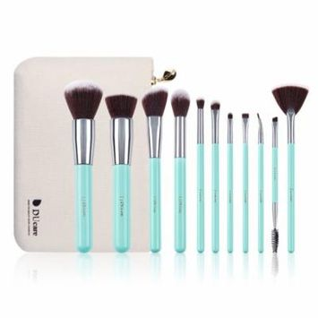 DUcare Makeup Brushes Kabuki Foundation Eyeshadow Makeup Brush Set W/ Roll Cases 11Pcs