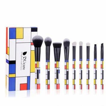 DUcae 9Pcs Geometry Makeup Brushes Set Foundation Powder Eyeshadow Brush