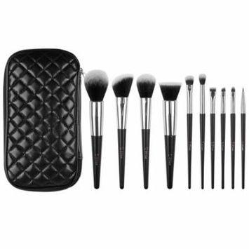 DUcare Face Makeup Brush Sets 10pcs Kabuki Brush Set with Leather Case