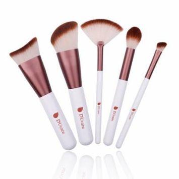 DUcare Kabuki Makeup Brush Set 5Pcs k Round Small Angled Fan Tapered Precision Foundation Makeup Brushes