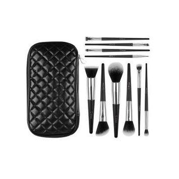 DUcare Makeup Brush Gift Sets 10pcs Kabuki Brush Set with Leather Case