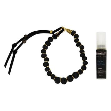 Aroma Mala Bracelet with Relax Oil Black