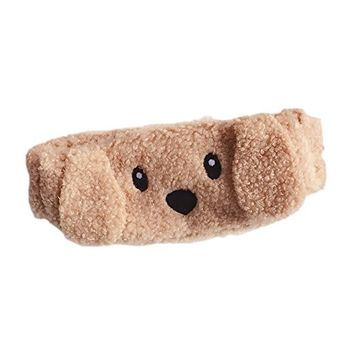 Kawaii Curved Teddy Dog Wash Shower Headband Soft Animal Elastic Sleep Mask(Multi-use)