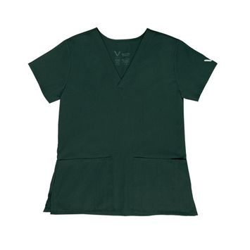 Vestex® Signature Stretch Women's V-Neck 2 Pocket Solid Scrub Top X-Large Hunter Green