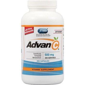 Nutraceutical Sciences Institute  NSI Vitacost Advan-C with Citrus Bioflavonoids -- 500 mg - 300 Capsules
