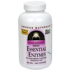 Source Naturals Daily Essential Enzymes 500mg 240 capsules