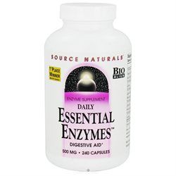 Source Naturals Daily Essential Enzymes 500mg, Capsules, 240 ea