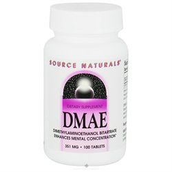 Source Naturals DMAE 351mg, Tablets, 100 ea