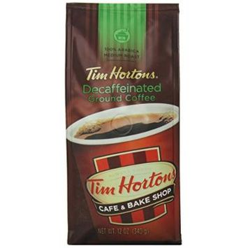 Tim Horton's 100% Arabica Medium Roast, Decaffeinated, Ground Coffee, 12 Ounce