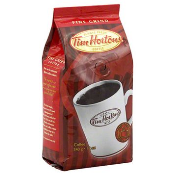Tim Hortons Fine Grind Ground Coffee, 12 oz, (Pack of 6)