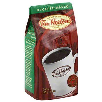 Tim Hortons Decaffeinated Ground Coffee, 12 oz, (Pack of 6)