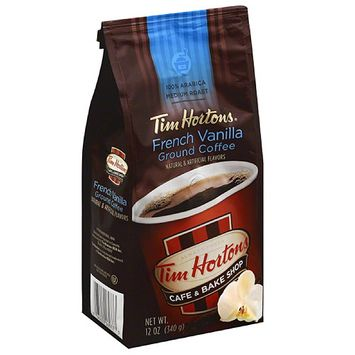 Tim Hortons Medium Roast French Vanilla Ground Coffee, 12 oz (pack of 6)