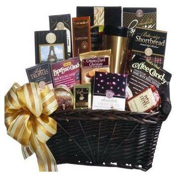 Coffee Connoisseur Gourmet Food Gift Basket [Coffee]