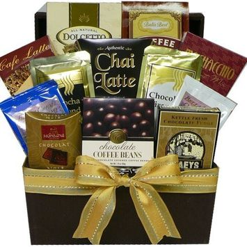 Coffee, Cappuccino & Latte Lovers Gourmet Snacks Gift Tote [Coffee]