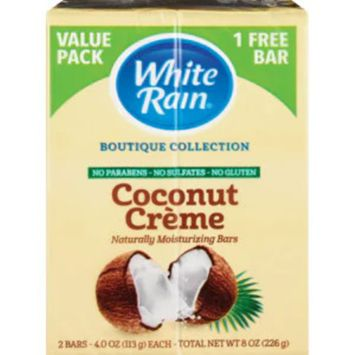 White Rain Boutique Collection Naturally Moisturizing Bars, Coconut Creme, 2CT