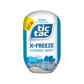 Tic Tac X-FREEZE Sugar-Free Breath Mints, Strong Mint