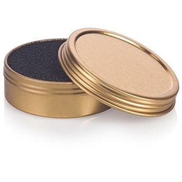 Makeup Cosmetic Brush Cleaner Sponge for Eyeshadow, Blush, Foundation Powder Color Removal Quick Switch - 2 oz Gold Screwtop Tin, Perfect for Travel, Makeup Bag, Gym