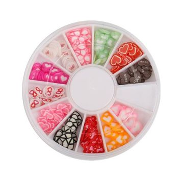 1 Box Fruit/Heart-Shaped Soft Pottery Nail Pieces - DIY Jewelry Accessories Fruit Film Food Accessories Materials