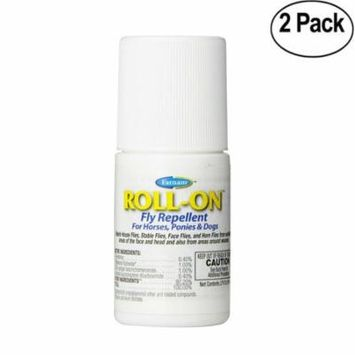 Farnam Roll-On Fly Repellent for Horses, Ponies and Dogs, 2 fl oz - 2 Pack