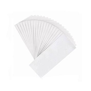 100PCS White 7.8'' x 2.7'' Disposable Non-woven Hair Removal Wax Strip Hair Remove Paper Depilatory Epilator for Leg Arm Body Face