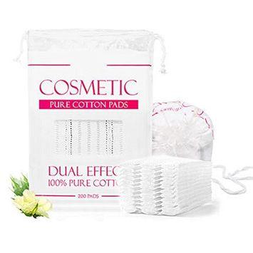 200 Pcs Rectangle Pure Cotton Puff Facial Makeup Cotton Pads Remover Cleansing Cotton