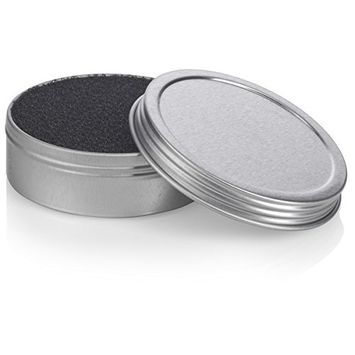 Makeup Cosmetic Brush Cleaner Sponge for Eyeshadow, Blush, Foundation Powder Color Removal Quick Switch - 2 oz Silver Screwtop Tin, Perfect for Travel, Makeup Bag, Gym