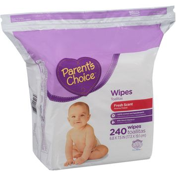 Parents Choice Parent's Choice Fresh Scent Baby Wipes, 80 sheets, 3 count