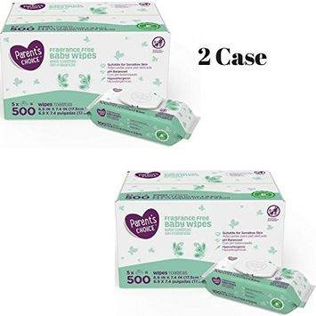 Parent's Choice Fragrance Free Baby Wipes, 500 count (5 packs of 100)