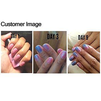AIMEILI Soak Off UV LED Temperature Color Changing Chameleon Gel Nail Polish - New Glitter Purple To Pink (TC15) 10ml