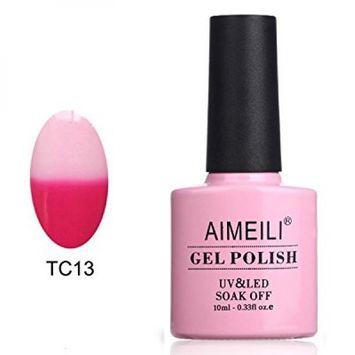 AIMEILI Soak Off UV LED Temperature Color Changing Chameleon Gel Nail Polish - Hot Pink To White (TC13) 10ml