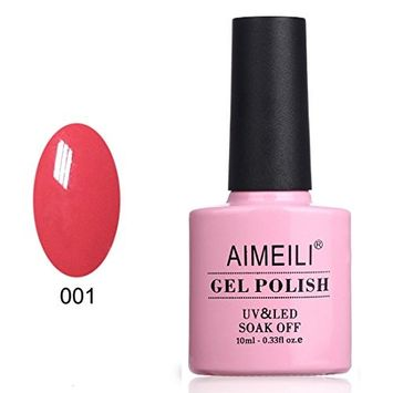 AIMEILI Soak Off UV LED Gel Nail Polish - Tropix Tropical Punch (001) 10ml