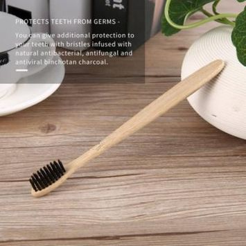 Health Toothbrush Bamboo Handle Toothbrush Charcoal Bristles Home Oral Care