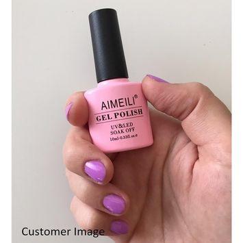 AIMEILI Soak Off UV LED Gel Nail Polish - Lilac Lightning (037) 10ml