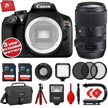 Circuit City Canon T6 18MP DSLR Camera w/ Sigma 100-400mm f/5-6.3 DG OS HSM Lens - 64GB - 20PC Kit + 3YR Warranty