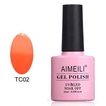 AIMEILI Soak Off UV LED Temperature Color Changing Chameleon Gel Nail Polish - Peaches & Cream (TC02) 10ml