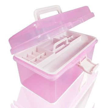 Two Layer Manicure Kit Case for Nail design tools plastic storage box
