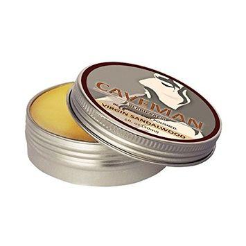 Caveman Virgin Sandalwood Beard Balm, Leave in Conditioner, 100% Vegan and All Natural
