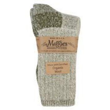 Maggies Functional Organics Maggies Organics Wool Hiker Socks Olive (Pack of 3)