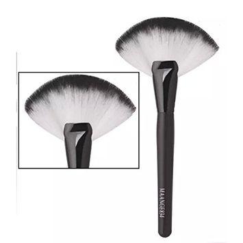 EYX Formula New Natural Hair Fan Blush Brush Make Up Foundation Tool